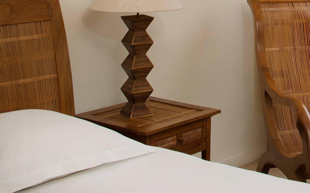 Wooden nightstand restaurant pays de la loire