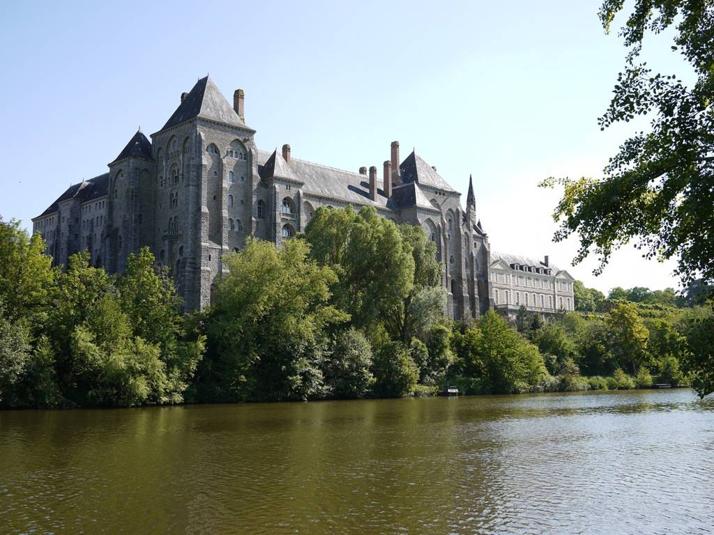Charming benedictine abbey at Solesmes