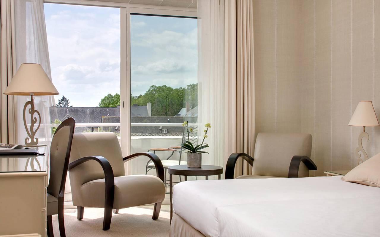 Chambre supérieur belle vue Hôtel Sarthe
