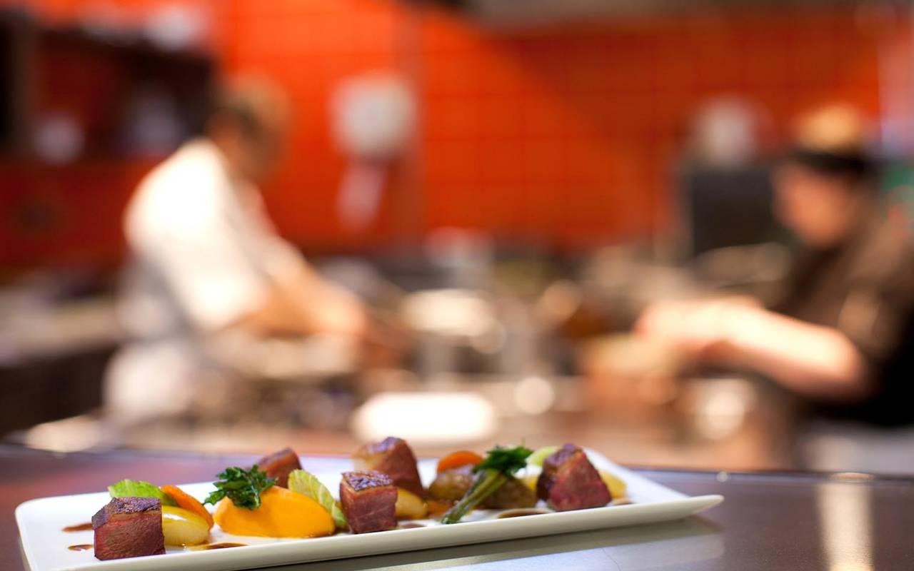 Plat principal restaurant loire