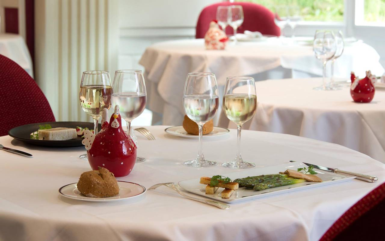 Table dressée restaurant sarthe