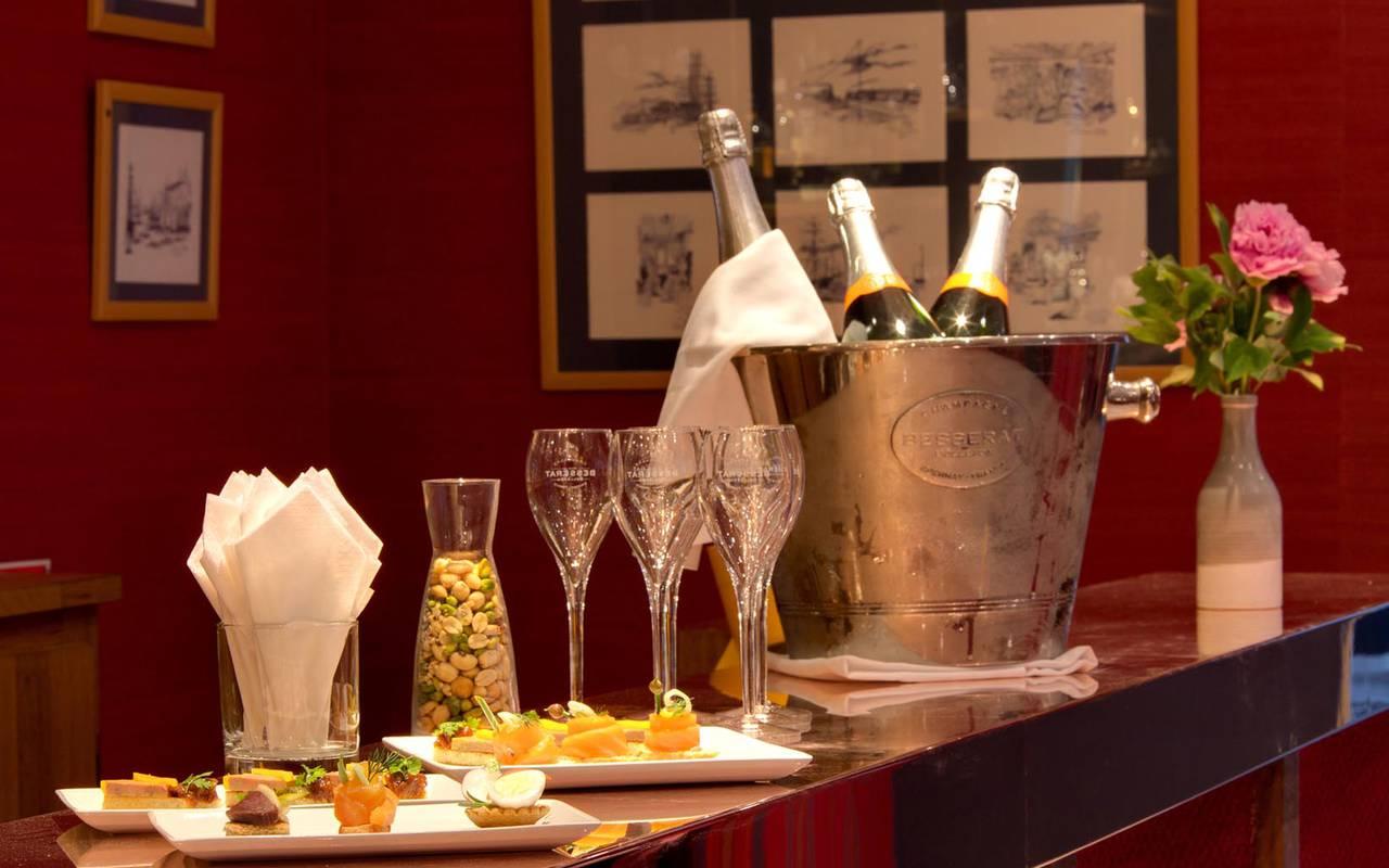 Coupes de champagne restaurant loire
