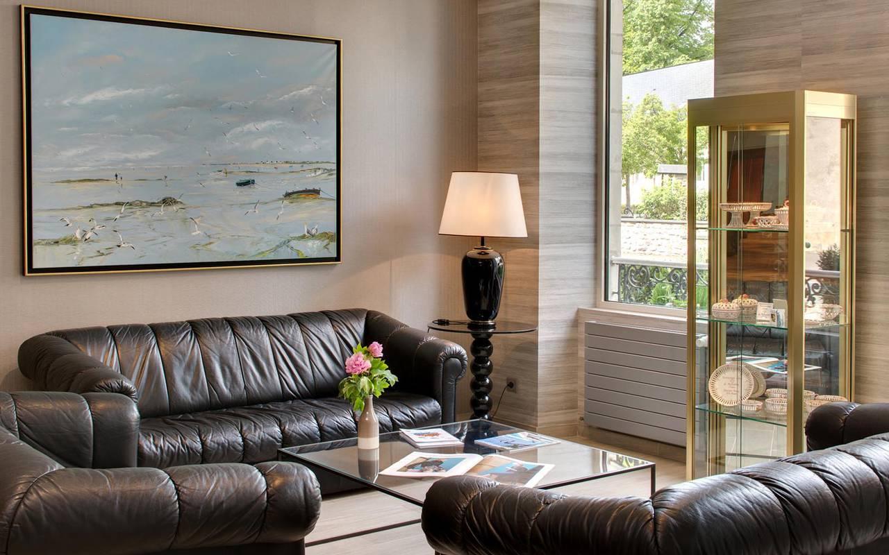 Salon confortable de l'Hôtel Pays de la Loire